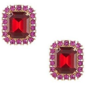 Kate Spade ♠️ NWT Red & Pink Crystal Studs